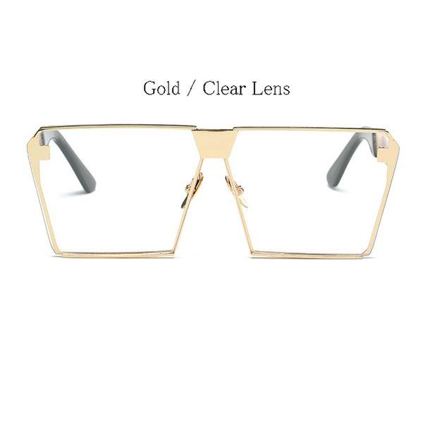 Gold Frame Clear Objektiv