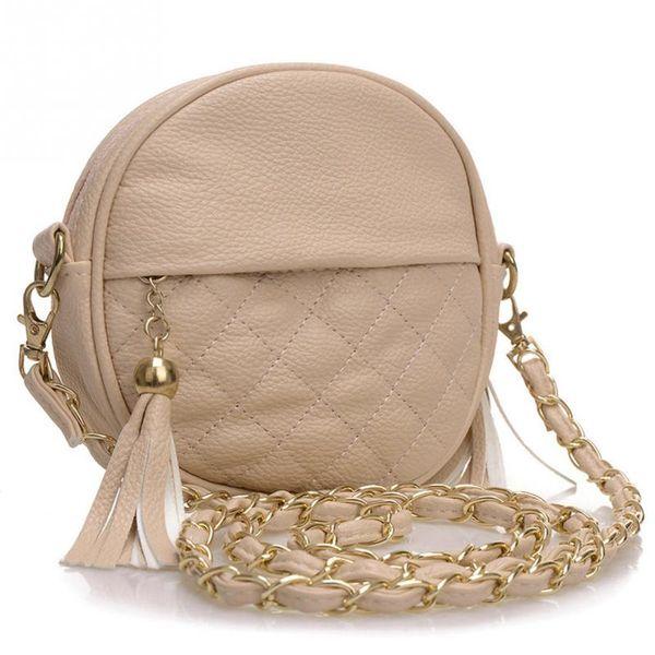 Wholesale- 2016 women Small bucket tote bag tassels leather bag women messenger bags brand designer handbags high quality