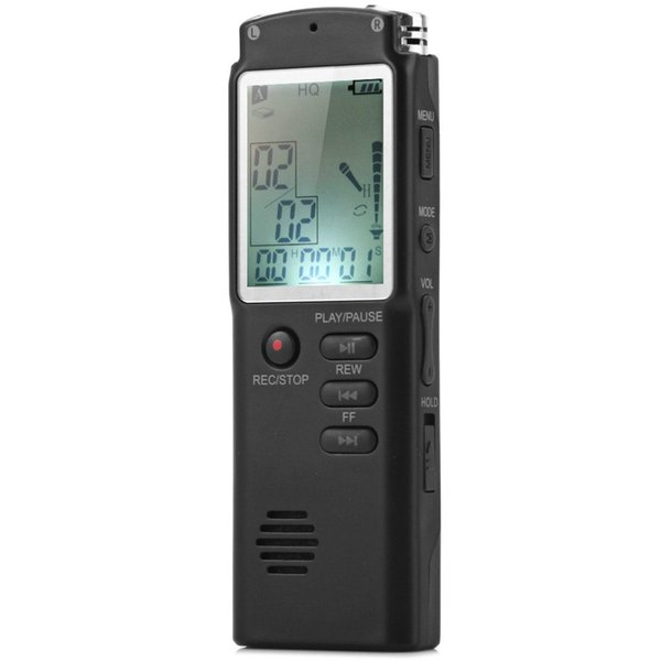 2 in 1 Digital Voice Recorder/MP3 player 8GB Memory with Digital LCD Display Digital Voice/Audio Recorder with Microphone