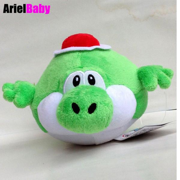 "OHMETOY Super Mario Bros Green Fly Blimp Yoshi Stuffed Plush Animal Doll Kids Toys Approx 17cm/6.7"" Free Track Code"