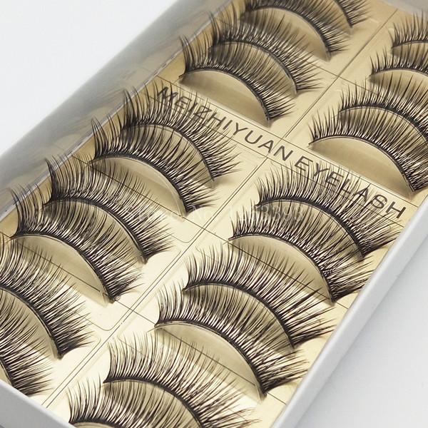 High-Quality False Eyelashes High-Quality Fiber False Eyelashes Thick Slim Natural Makeup Tool Length Fake eyelashes