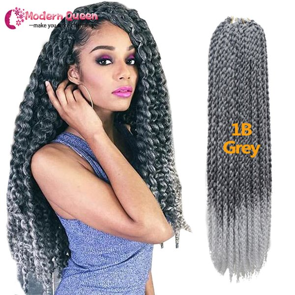 3D Cubic Twist Crochet Braids 120g 22inch Synthetic braiding hair Afri Naptural Ombre Mambo Senegalese Twist Hair Extensions Free shipping