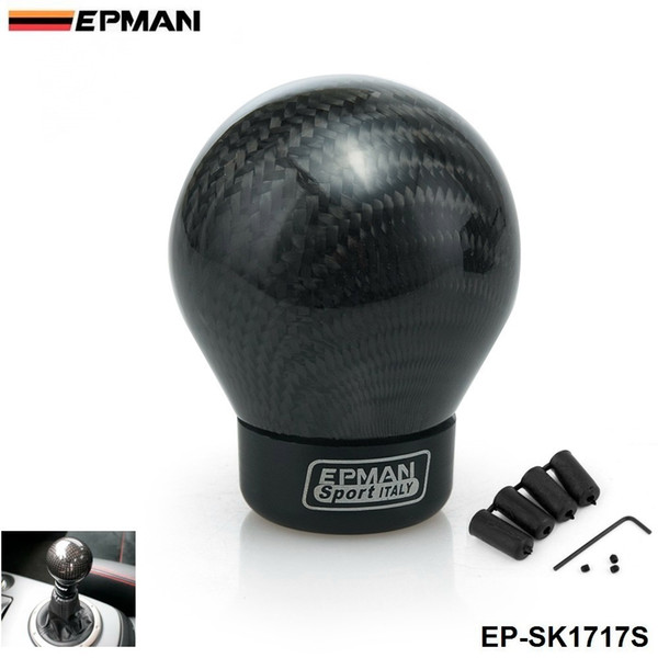 best selling EPMAN- Real Carbon Fiber Aluminum Gear Snob Manual Transmission Aluminum Gear Shift Knob For Honda VW BMW EP-SK1717S