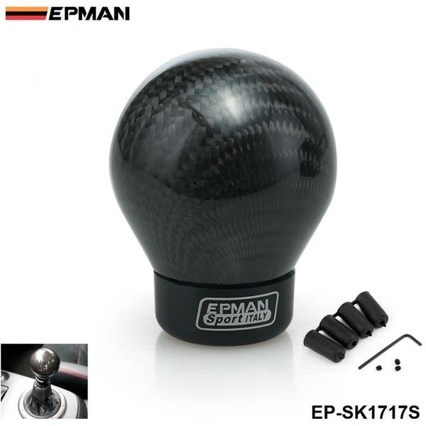 EPMAN- Real Carbon Fiber Aluminum Gear Snob Manual Transmission Aluminum Gear Shift Knob For Honda VW BMW EP-SK1717S