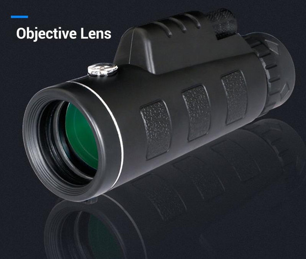 10PCS PANDA 40x60 Mini Tripod Telescope Night Vision Monocular Telescopio Phone Camera/Video Telescope With Compass Free Shipping