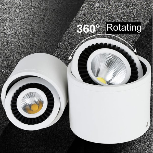 best selling New 5w 7w 9w Round COB LED Downlight Surface Mounted Kitchen Bathroom Spot light Lamp AC110-240V LED ceiling lamp with led drive