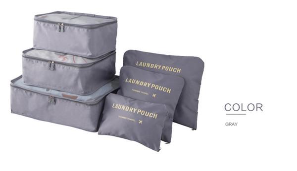 30sets NewestDouble Zipper Waterproof Travelling Bags Men Women Nylon Luggage Packing Cube Bag Underware Bra Storage Bag Organizer 6pcs set