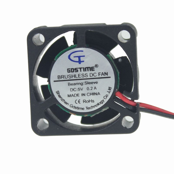 Wholesale- Gdstime 2 pcs DC 5V Brushless 25mm x 25mm x 10mm Mini Cooling Cooler Fan PC Chipset Heatsink DC 2 Pins 5 blades