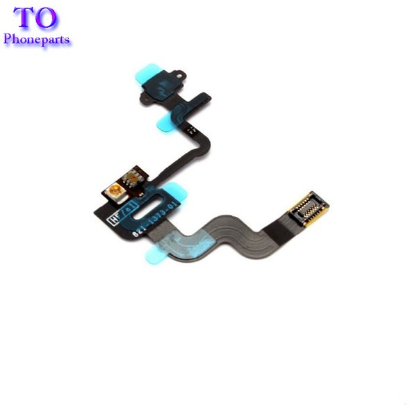 New Proximity Light Sensor Power Flex Cable For iPhone 4 4G 4S Replacement Parts On Off Button Flex Cable