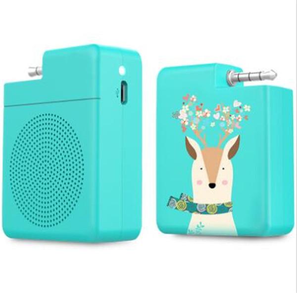 S1 2 in 1 Portable Speakers Mobile Phone Bracket Holder Speaker Hands-Free Stereo Mini Speaker With 3.5mm Audio Plug for Smart Phones