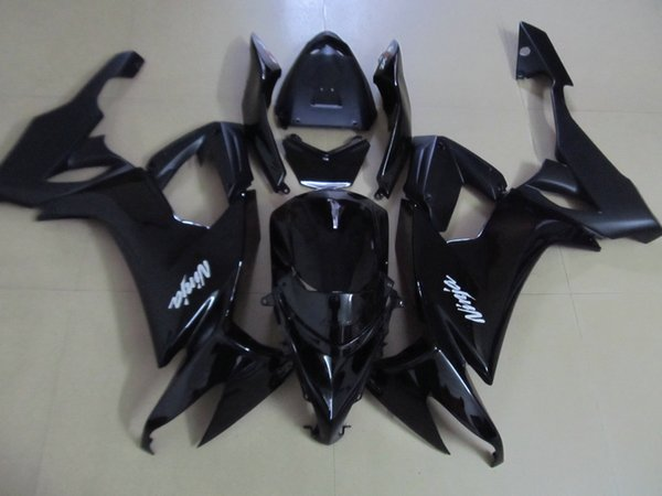 New hot moto parts fairing kit for Kawasaki ninja ZX10R 08 09 black fairings set ZX10R 2008 2009 OY21