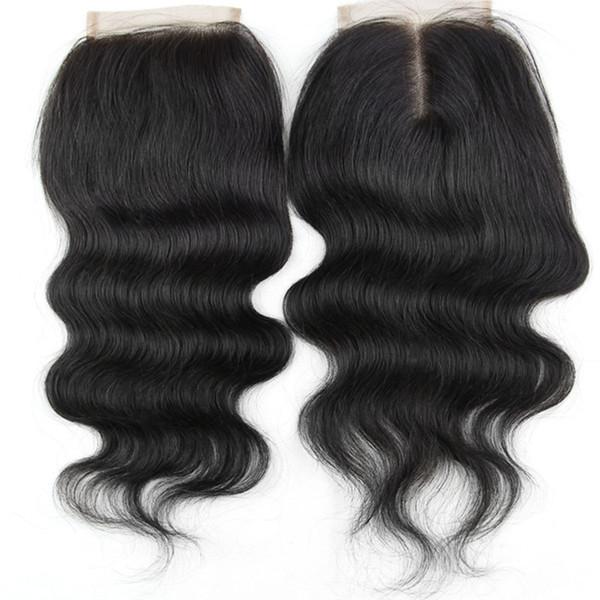 Бразильский малайзийский Индийский перуанский Индийский монгольский волос ТОП кружева закрытие 8-18 дюймов волна необработанные естественный цвет человеческих волос закрытие