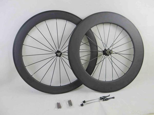 Carbon bike wheels front 60mm plus rear 90mm basalt brake surface clincher tubular road cycling bicyle wheelset novatec hubs width 25mm