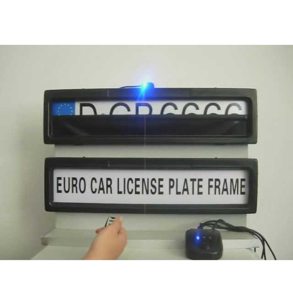 Free shipping remote car plate cover licence plate frame holder fit EUROPE RUSSIA cars Curtain Closed Plate frame size 530*135*25mm