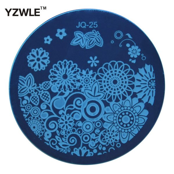 Wholesale- YZWLE Hot Sale Nail Art Stainless Steel Plate Image Stamp Stamping Plates DIY Manicure Template Nail Polish Tools (JQ-25)