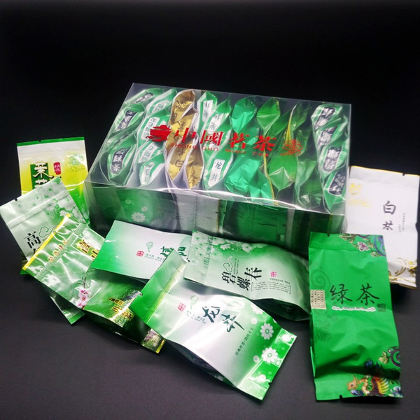 top popular 8 kinds of Green tea,32 bags Chinese tea,Maojian,Longjing,Maofeng,Anji white tea,Yunwu,Biluochun,Jasmine tea,Zhuyeqing 2019