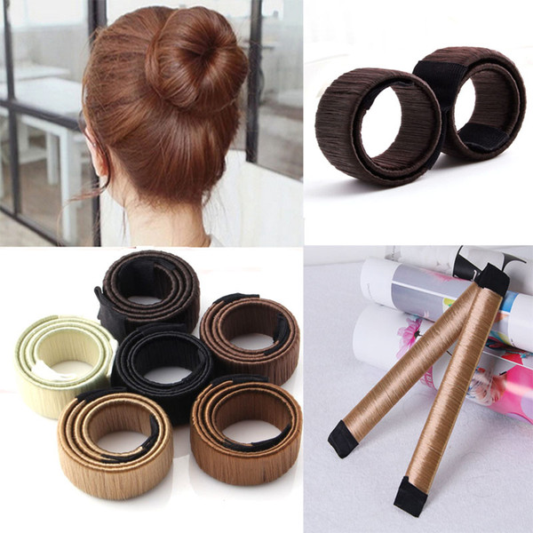 best selling Hair Magic Tools Bun Maker Hair Ties Girl DIY Styling Donut Former Foam Hair Bows French Twist Magic Tools Bun Maker