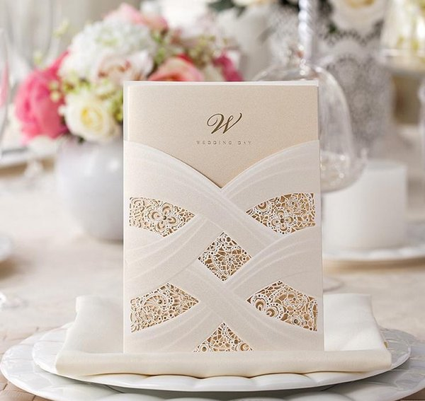 Hot selling Wedding Invitations cards Personalized White Red Wedding Invitation Cards newest designs via DHL free shipping in cheap price