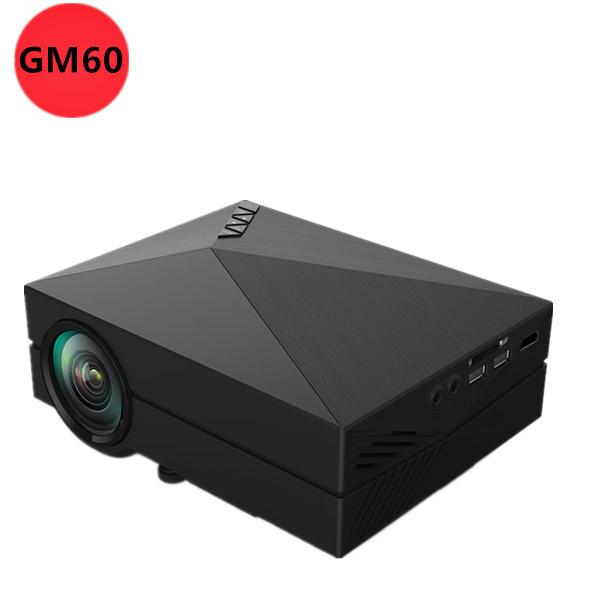Wholesale-WHOLESALE 2015 NEWEST Portable GM60 MINI LED Projector For Video Games TV Movie SD FULL HD Home AND OUTDOOR Theater FREE GIFT