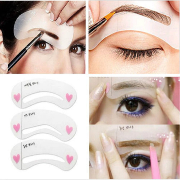 3 Styles Grooming Brow Painted Model Stencil Kit Shaping Diy Beauty