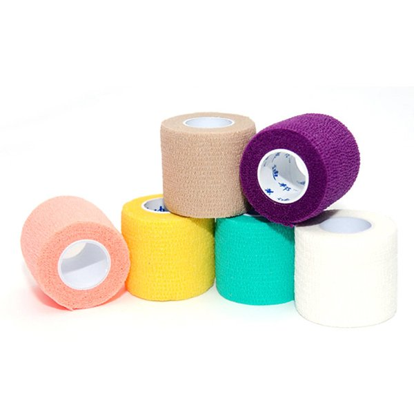 Hot selling Disposable Self-adhesive Elastic Bandage for Handle Grip Tube Tattoo Accessories Random Color Free Shipping