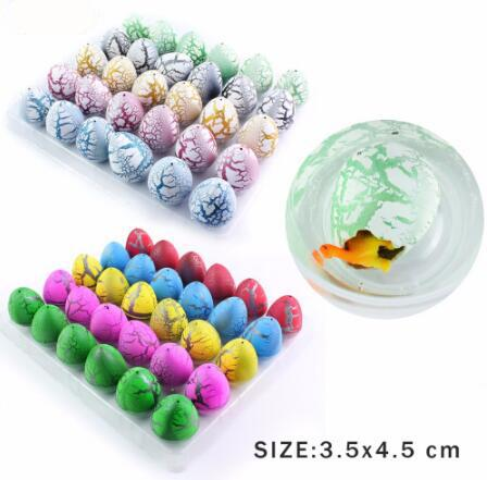 30pcs/lot Novelty Gag Toys Children Toys Cute Magic Hatching Growing Dinosaur Eggs For Kids Educational Toys Christmas Gifts