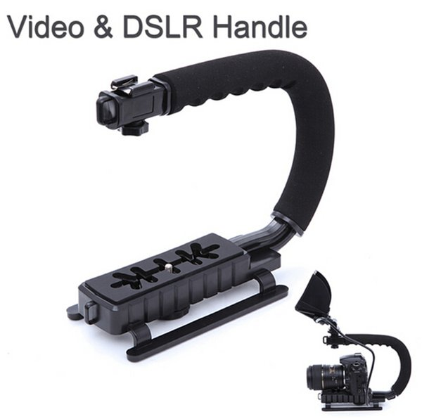 U / C Form Flash Bracket Halter Video Griff Handheld Stabilisator Action Grip für DSLR SLR Kamera Mini DV Camcorder Smartphone