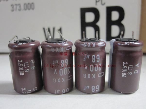 30 PZ Giappone NIPPON condensatore elettrolitico 200 V68UF 12.5X20 KXG serie di bassa frequenza ad alta frequenza lunga vita spedizione gratuita