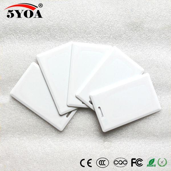 best selling 5YOA EM4305 T5577 125khz Card Thick EM ID keyfobs RFID Tag key Ring card Proximity Token for Access Control System