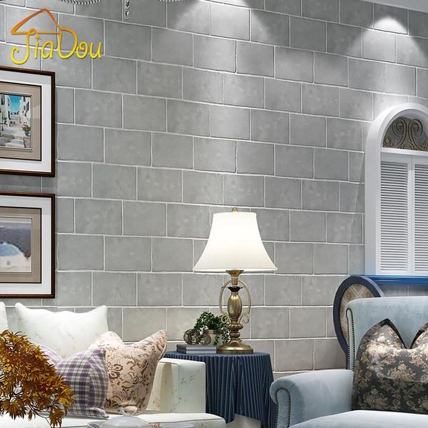 Großhandel Moderne Vliestapete 3D Stereo Geprägte Grau Nachahmung  Ziegelstein Muster Stones Tapete Wohnzimmer Den Wandverkleidung Dekor Von  ...