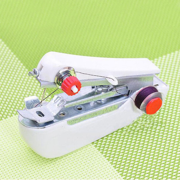 Creative Household Mini Handheld Portable Clothes Fabrics Sewing Machine Travel DIY Stitcher Free Shipping ZA3851