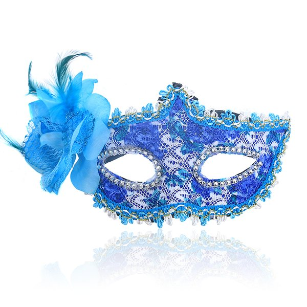 Half Face Rhinestone Sexy Lace Mask Princess Lily Venice Mask Halloween decoration christmas Party Ball Mask Masquerade Dance