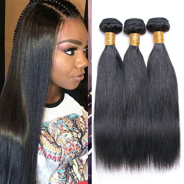 New Product Malaysian Straight Remy Human Hair 3 Bundles/Lot Natural Black 8-28 Mixed Inch Unprocessed Weaving 7A Virgin Hair Extensions
