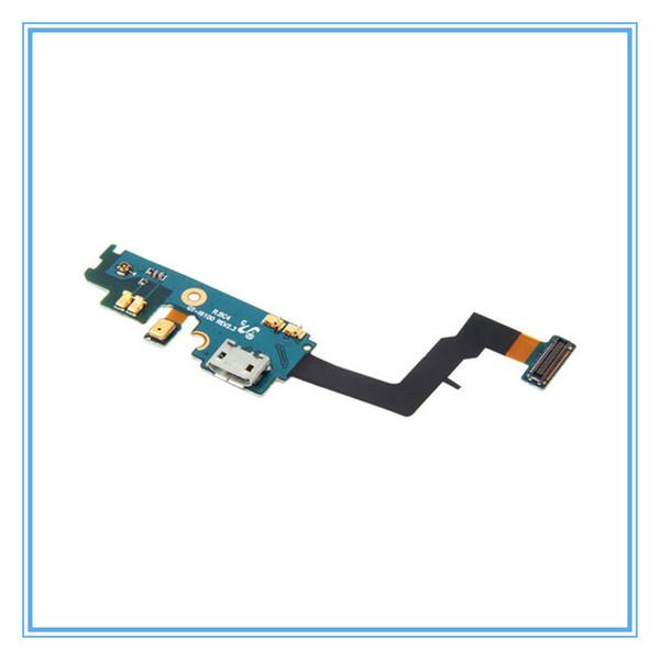 Repuesto de piezas de conexión Dock puerto USB de carga Flex Cable para Samsung Galaxy S2 i9100 GT-i9100 Parte de USB Flex Cables con micrófono