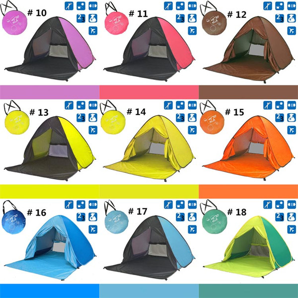 top popular Fast Shipping Graduation Travel Outdoors Camping Shelters Quick Automatic Opening Hiking Tents 50+ UV Protection Tent Beach Lawn Home 1 Door 2021