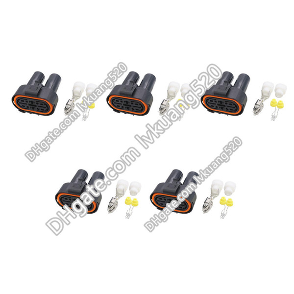 5 Sets 4 Pin Waterproof vehicle connector Car Connector Oxygen sensor plug connector with terminal DJ7041-6.3- 9.5-21