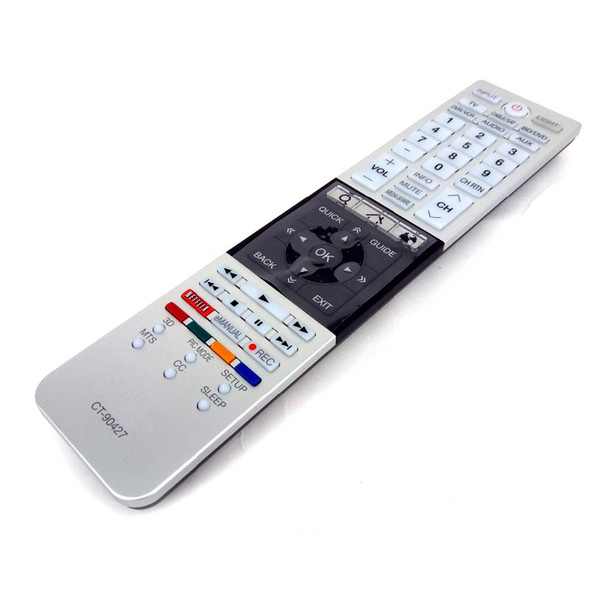 Wholesale- Original FOR Toshiba CT-90427 CT90427 CT-90428 Remote Control For 58L7350U 65L9300 84L9300 3D LED TV Fernbedienung Free shipping