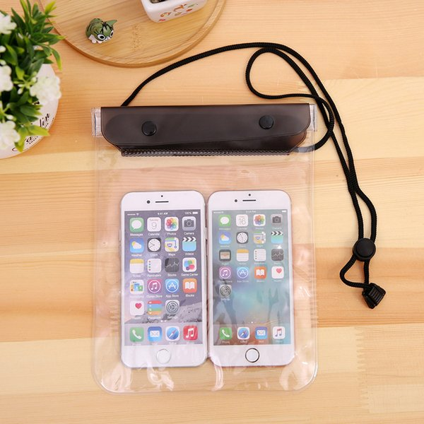 Clear Waterproof Pouch Dry Case Cover For Camera Mobile phone Waterproof Bags for iphone samsung htc 150PCS Free shipping new arrival
