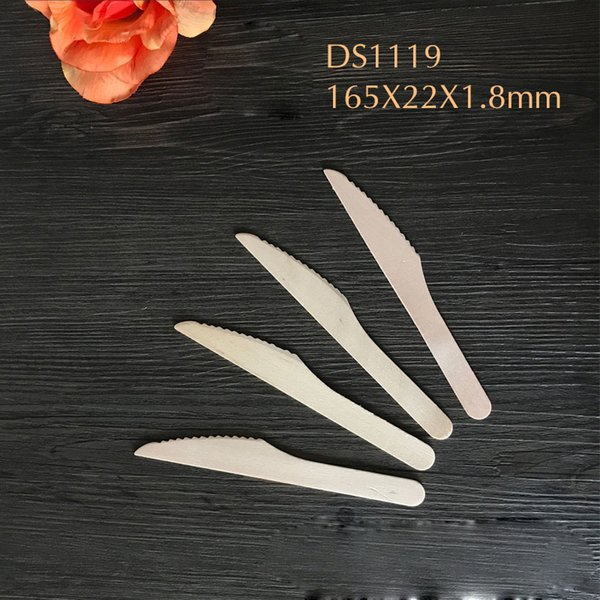 Wooden Disposable Cutlery Knifes Wood Dessert Mooncake Flatware Wedding Party Decoration Kitchen Accessories