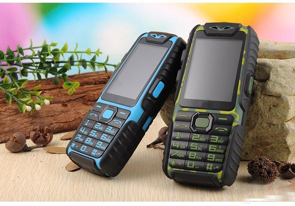 5pcs/lot wholesale A6 Mobile Phone With Power Bank 9800mAh Dual Sim Card Shockproof Dustproof Cell Phone A6 (Can ADD Rusian Keyboard)