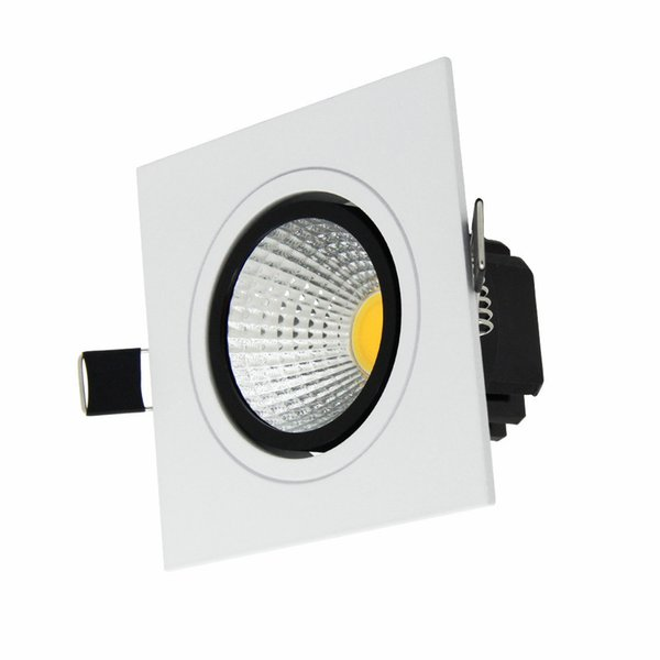 outlet store 32632 87bc5 Square Led Downlights 7W 9W 12W 15W Cob Led Lighting Dimmable Led Recessed  Lights AC 85 265V CE ROHS Led Downlight Fixtures Downlights For Sale From  ...