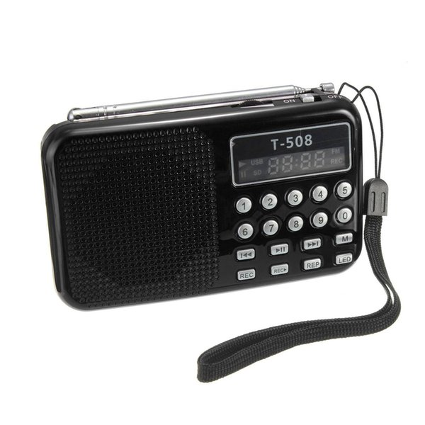 Großhandels-Portable Mini 50mm Interner magnetischer LED Stereo FM Radio Lautsprecher T508 USB TF Karte für MP3-Musik-Player