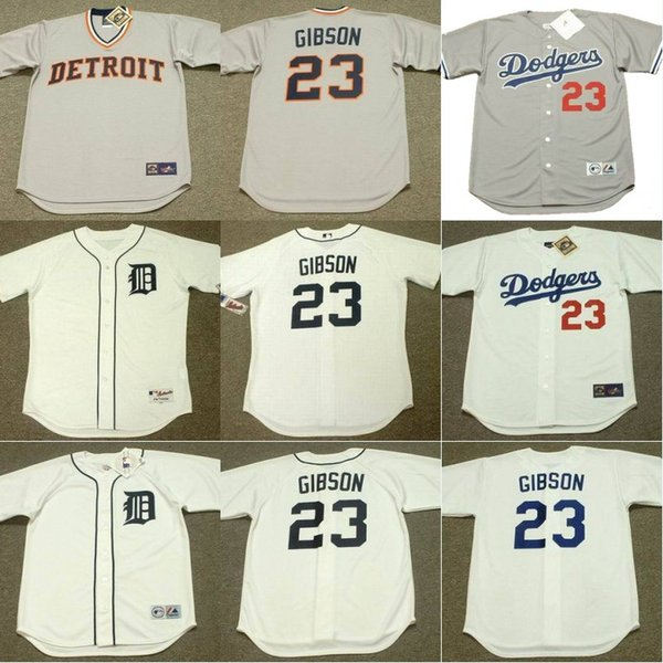 03aec345d48 ... 23 Kirk Gibson Cooperstown Throwback Jersey Mens Detroit Tigers 1984  Los Angeles Dodgers 1988 Throwback ...