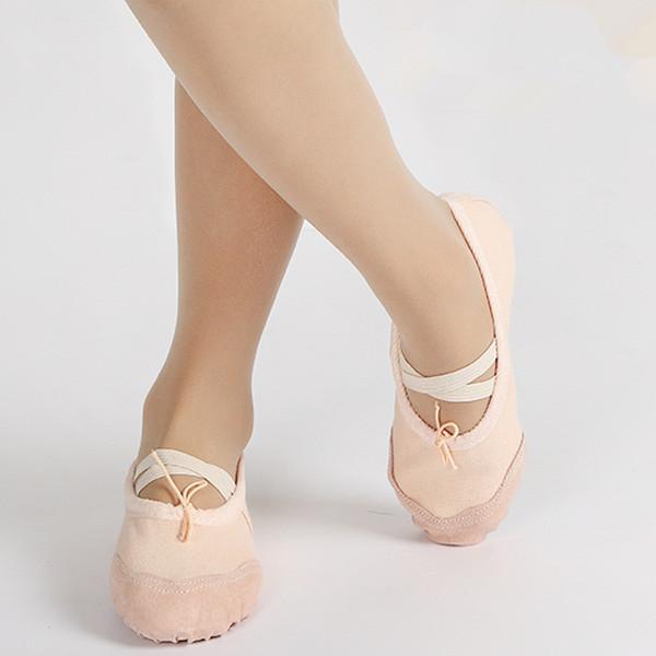 top popular Kids soft sole ballet pumps toe shoes boys girsl practice ballet shoes dancing shoes for baby kids juniors 3-16T 2019