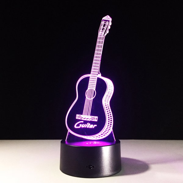 Guitar 3d led night light table desk lamps elstey 3d optical guitar 3d led night light table desk lamps elstey 3d optical illusion visual lamp 7 aloadofball Image collections