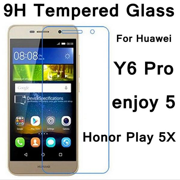 For Huawei Y7 Tempered Glass Screen Protector For Huawei Y7 Prime Y6 Pro 2  Compact Y6 Y5 Y3 2017 II 2nd Y611 Y511 Y311 9H Anti Scratch Glass