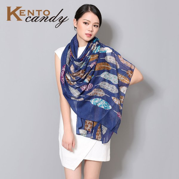 Wholesale-Feather scarf women sping 2016 new fashion flower shawl hijab cape wrap foulard echarpes foulards femme collar viscose scarves