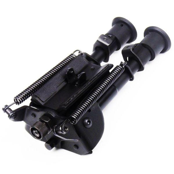Angle de rotation de style Harris 6-9 pouces bipied QD montage tactique pliable style pivotant bi-pod pour .223 fusil lunette de visée Airsoft