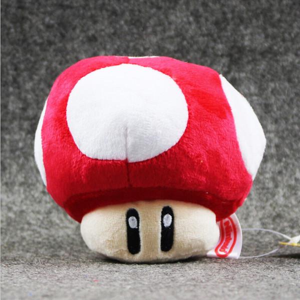 10cm Super Mario Bros Mushroom Plush Toy Soft Plush Stuffed Doll for kids Christams gift free shipping EMS