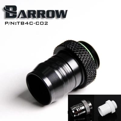 Wholesale- Barrow Black G1 / 4 'coin type for 1/2 (ID12.7MM) water pipe pagoda-type connector computer water cooler accessories TB4C-C02